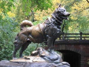 Памятник Балто в Нью-Йорке